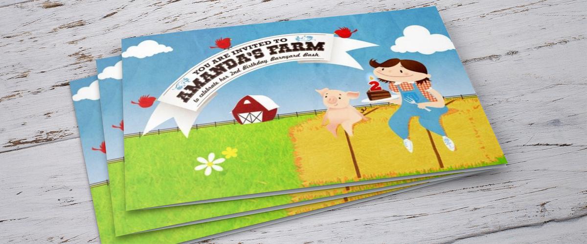 Amanda's Farm custom invitation