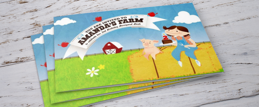 Amanda's Farm custom invitation