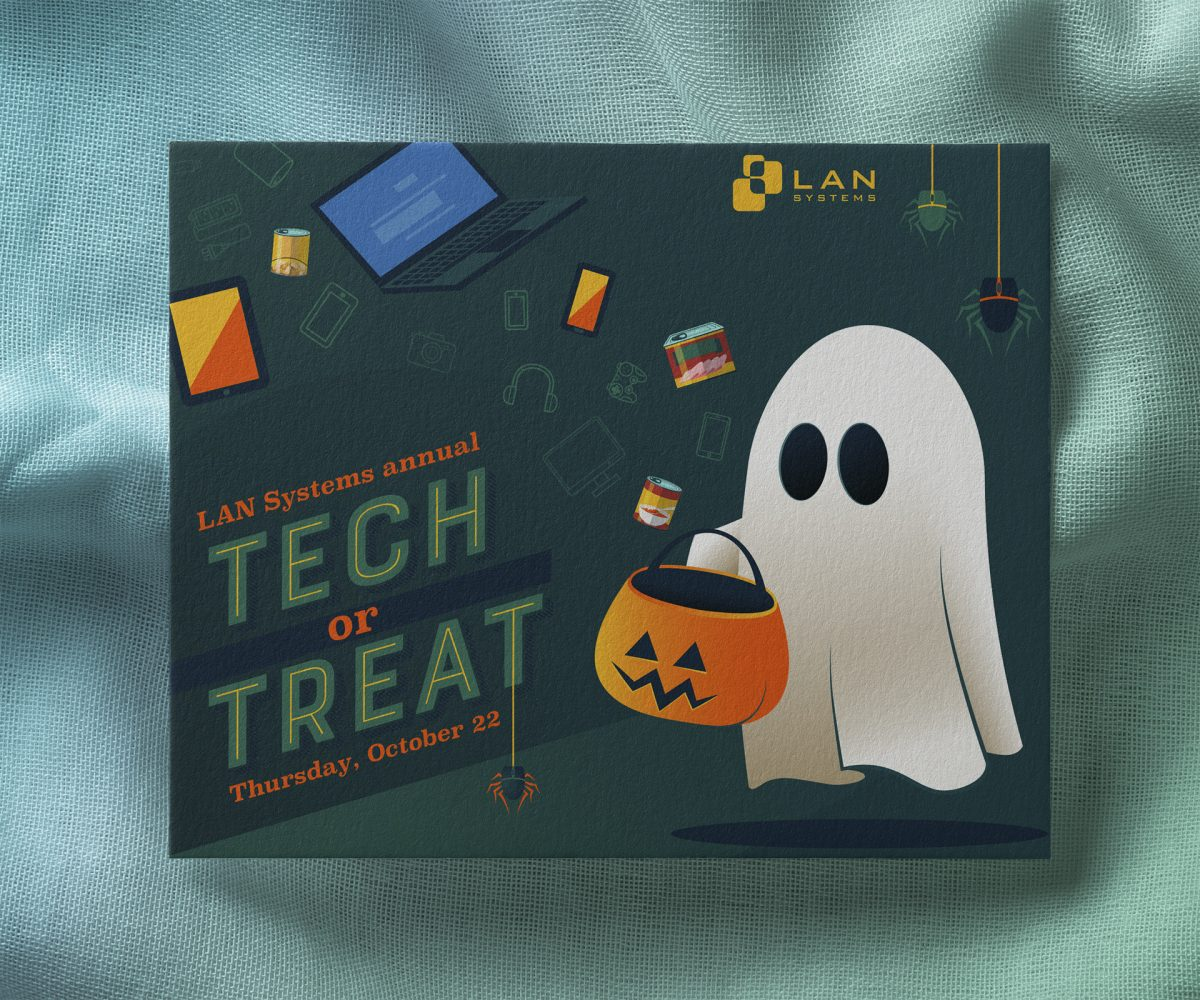 An invitation for a Halloween-themed technology event.