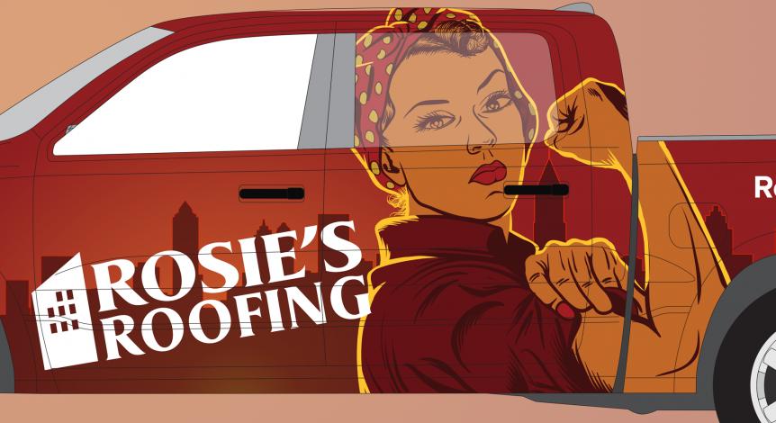 Rosie's truck wrap design